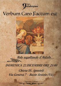 Locandina Concerto Coro Dalakopen Verbum caro factum est