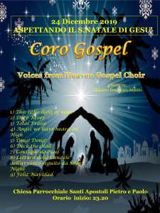 Locandina Coro Gospel del 24 dicembre 2019